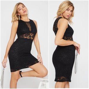 Dresses & Skirts - Black lace dress - sz medium